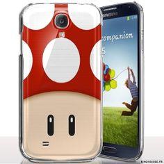 Coque s4 mini original 1UP Rouge - Coque, Housse silicone Samsung S4 mini. #Housse #Silicone #S4 #Mini. #coque #s4 #mini #telephone #i9195 #cover #phone #case #samsung #galaxy #fun