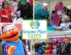 LOTS of smiles on Dec 17th! The Sesame Place Cares team visited the Children's Hospital of Pennsylvania with a grand cast of characters and lots of gifts. The characters put on a holiday performance and then stopped by to see every child and deliver something special. Sesame Place wishes all the CHOP families a happy holiday and the brightest of New Years.