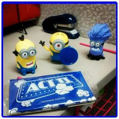 Minions, gifts from coworkers to add to my collection