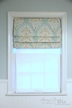 trendy kitchen window curtains no sew faux roman shades Bathroom Window Coverings, Small Bathroom Window, Small Window Curtains, Bathroom Window Curtains, Roman Curtains, Valance Window Treatments, Kitchen Window Treatments, Bathroom Windows, Diy Curtains