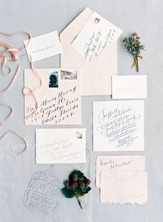 Love the gorgeous wedding calligraphy!