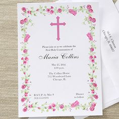 Cherish your child's big day with the Floral Blessing Communion Invitations. Find the best personalized First Communion gifts at PersonalizationMall.com