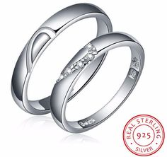 Joining Heart Couple Promise Rings