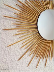 Sun Mirror, Sunburst Mirror, Big Wall Clocks, Metal Wall Art, Metal Wall Decor, Diy Home Decor Bedroom, Upcycled Home Decor, Decorating Blogs, Diy Art