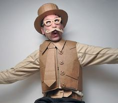 15 Halloween Costumes That Artfully Used Cardboard Boxes - Cardboard Box Airplanes