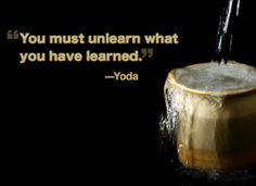 empty your cup - you must unlearn what you have learned. No need to jump from deal to deal, launch to launch to make money anymore. Stop unwillingly keeping your team broke.