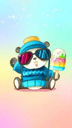 Cute Panda, Ice Cream, Wallpapers, No Churn Ice Cream, Icecream Craft, Wallpaper, Backgrounds, Ice, Gelato