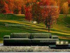 Fotobehang golfbaan