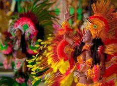 Boi-Bumba festival in the Amazon. Colorful, energetic dancing