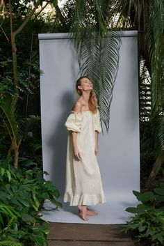 The brand iconic classic pajamas and dressing gowns in spring-summer collection are replaced by lightweight bare shoulders shirt dresses and pajama suits.