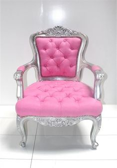 Woman Cave - Pink Throne - Pink Chair - Tune into Your Inner Goddess at the link. #PinkChair