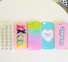 I found these cases on Mylifeaseva instagram and I think they are so cute and I just had to pin them!