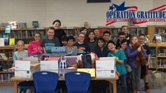 """Thank you to the students and staff at George R. Hanaford Elementary School in East Greenwich, RI for hosting a collection drive of """"Wish List"""" items to fill Operation Gratitude care packages!"""
