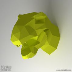 • This listing is for a digital instant download PDF file •    DIY template for creating a 3D model of a dinosaur head to use as a wall decoration.