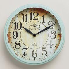 Small Blue Round Micah Clock   World Market