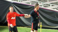Well it looks like Wayne Rooney and Louis Van Gaal are getting on like a house on fire...