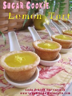 Perfect and cheap!  Lady Behind the Curtain » Sugar Cookie Lemon Tarts