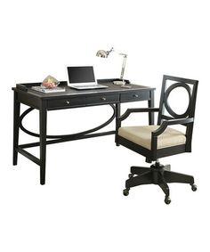 Look what I found on #zulily! Black Home Office Desk #zulilyfinds