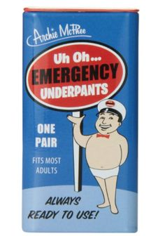 Emergency Underwear - one of the funniest white elephant gifts!