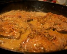 THE BEST EVER PORK CHOPS package of boneless pork chops1 can of Cream of Chicken soup1 packet dry Ranch dressing mix In crockpot layer pork chops, add the cream of chicken soup, then sprinkle dry Ranch dressing all over.Cover and cook on high for 4 hours OR Low for 6 hours. The pork chops come out very tender and the flavor is amazing! You also get a good gravy for mashed potatoes