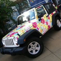 Lilly Pulitzer Jeep!!  Yes please!!