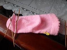 Pontos de Tricô Passo a Passo.: A minha meia sem costura