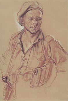 ILLUSTRATION ART: IVOR HELE: THE GREAT WAR  The best war illustrator you've never heard of is Ivor Hele (1912-1993) who depicted searing images of combat and military life in World War II and the Korean War.   ILLUSTRATOR