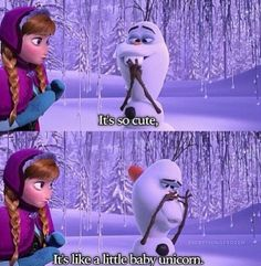 Olaf is definitely the best part of Frozen. Never laughed so hard in a Disney movie! Disney Memes, Disney Quotes, Funny Disney, Disney Facts, Big Hero 6, Olaf Frozen, Disney Frozen, Frozen 2013, Frozen Pics
