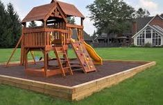 home playground ideas - Google Search. Box like this w/ rubber mulch