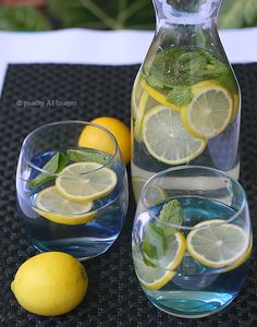 Lemon and Mint detox water (not realllllly sure if this works)