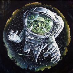 Жизнь и космос от @alexeytompson Спасибо за хэштег! #арт #графика #рисунок #иллюстрация #художник by topcreator