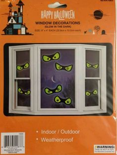 Halloween Glow in the Dark Double Sided Haunted House Scary Window Evil Eyes #MomentumBrands