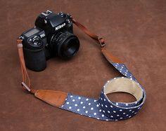 SLR Camera Strap  Canon/Nikon Camera Strap  DSLR Camera Strap  Polka Dot Camera Strap--six color