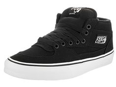 Vans Unisex Half Cab 14 oz Canvas Black Skate Shoe 115 Men US -- Check out this great product. (Amazon affiliate link)