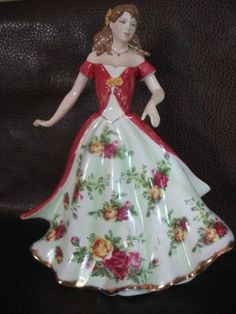 Royal Albert/Royal Doulton Pretty Ladies Figurine Old Country Roses Pattern picclick.com