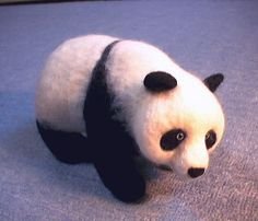 Felted Panda Bear