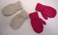 Crochet Baby Mittens Mack and Mabel: Baby Mittens Knitting Pattern - made these for a friend's baby shower. I had to use a lightweight yarn and a smaller needle to get an infant sized mitten. Baby Mittens Knitting Pattern, Knit Mittens, Knitting Patterns Free, Free Knitting, Free Pattern, Sock Knitting, Fingerless Mittens, Knitted Hat, Knitting Machine