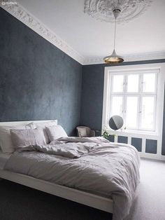 Perfekt fargepalett hos Lene Orvik - Lilly is Love Green Bedroom Paint, Sage Green Bedroom, Blue Bedroom, Bedroom Wall, Bedroom Decor, Bedroom Ideas, Modern Home Interior Design, Blue Rooms, New Room