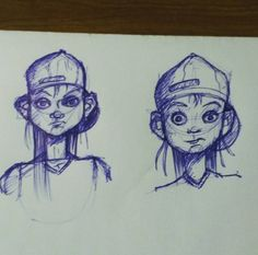 A couple of quick sketches from todays lunch break.  #art #creative #girl #portrait