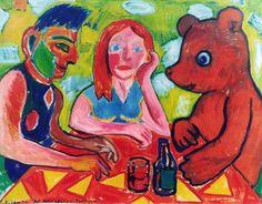 Zdzisław Nitka, Reiterin kneipe - Dresden,  1996, olej, płótno, 120 x 150 cm.