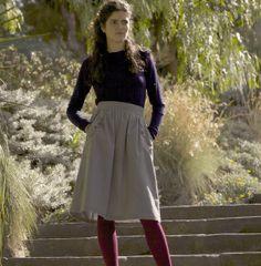 Kindling · Cockle Grey Scollop Skirt