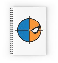Deathstroke emblem spiral notebook by kirkdstevens on redbubble - $12