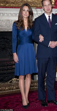 Issa London Blue Wrap Dress. SHOP this style  Kate Middleton ...