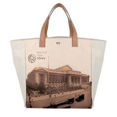 New York Public Library Tote bag. Core Collection, Anya Hindmarch, New York Public Library, Vintage Bags, Evening Bags, Shoe Boots, Reusable Tote Bags, Shoulder Bag, Handbags