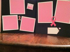 Breast Cancer Pre Made 12 x 12 Double Page by aSavvyScrapbooker, $12.00