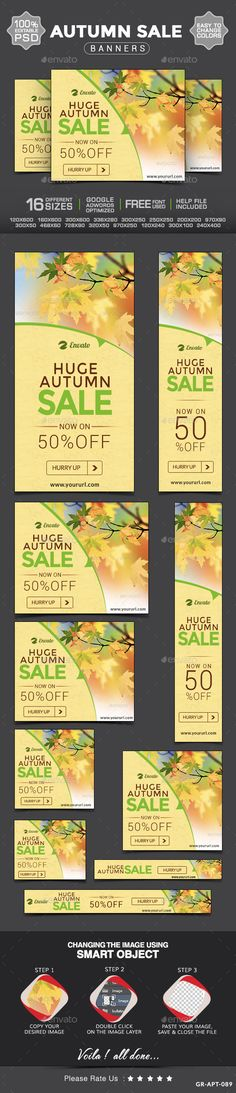 Autumn Sale Web Banner Design Template PSD | Buy and Download: http://graphicriver.net/item/autumn-sale-web-banner-design/8929721?WT.ac=category_thumb&WT.z_author=doto&ref=ksioks