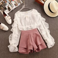 64 Ideas Clothes Cute Outfits Shorts For 2019 Girls Fashion Clothes, Teen Fashion Outfits, Mode Outfits, Girly Outfits, Cute Casual Outfits, Pretty Outfits, Fashion Dresses, Stylish Outfits, Style Clothes