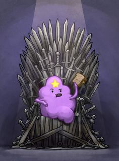 Oh my glob yes!  Lumpy Space Princess first of her name of House Lumpy Space, Queen of the seven kingdoms, protector of the realm, mother of lumps!! Titles titles tiles like yea!