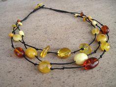 Genuine Multicolored Amber Necklace Natural  von DreamsFactory