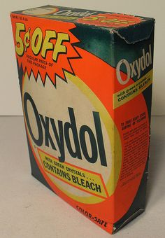 Vintage OXYDOL BOX 1960s Detergent ...That's what I used, probably because my mother did